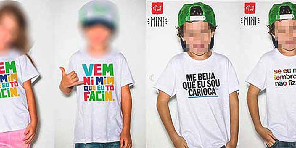 Co-fundadora da Ninguém Cresce Sozinho fala ao Portal Uai sobre a comercialização de camisetas infantis com frases de conteúdo erótico